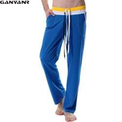 980eebd5d50de GANYANR Marque hommes Pleine Longueur pantalon long sexy sport gym yoga  courir Pantalons de Survêtement de Sport Pantalon Plus La Taille Formation  Pantalon