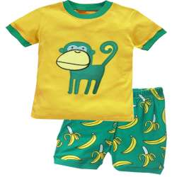 fa282e0712b23 H. kong bébé enfants de pyjamas ensemble garçon de bande dessinée pyjamas  fille mignon famille 100% coton chemise à manches courtes + shorts enfants  ...