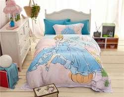 Prix Haute Qualite 1000tc Coton Princesse De Dessin Anime Imprime