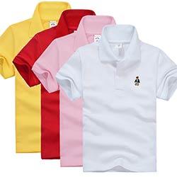 dcce7e069ca05 Haute qualité enfants garçons polo chemise bébé garçon fille vêtements  d été à manches courtes coton solide blanc rouge jaune t-shirt