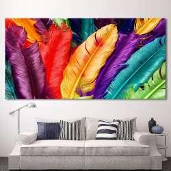 HDARTISAN Toile Art Encore vie Coloré Plumes Mur Photos Pour Salon Moderne  Art Modulaire Photos Sans Cadre