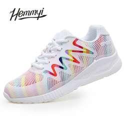 Panier Hemmyi Casual Chaussures Mode Femme Feminino Respirant Printempsété Tenis 2018 Nouveau Femmes Sneakers Pour WdCxerBQo