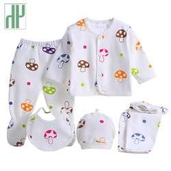f406d9e53bd4a HH Marques 5 pcs ensemble d été bébé vêtements minuscule cotons bébé filles  garçons champignon de Bande Dessinée nouveau-né vêtements survêtement 0-3  mois