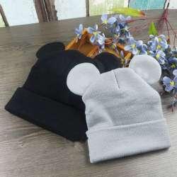 Hiver Bébé Enfant En Bas Âge Mickey Oreilles chapeau enfants crochet cap  Filles et Garçons Tricot Bébé Chapeaux Beanie bebes chapeau 993f58e0541