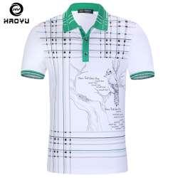 d7b0fec225b09 Hommes polo chemise marque vêtements chinois peinture à l'encre de haute  qualité coton mode à manches courtes à carreaux col polo 2017 nouvelle  arrivée