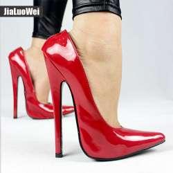 Jialuowei FÉTICHE 6 pouce EXTRÊMES TALON Funtasma haut talon chaussures de  ballet Sexy Brevets Halloween ballet chaussures Plus La taille 36-46 580534b0909