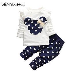 Bébé Fille Enfant Hiver Vêtements T-shirt et pantalon 2pcs Tenue Costume Vêtements ensembles