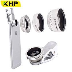 f8b426ae273d KHP 3 En 1 Universel Téléphone Lentille Clip caméra Mobile Téléphone  Lentilles pour iphone 4 4S 5 5S 6 6 S Samsung Galaxy S5 Poissons Eye +  Macro + Large