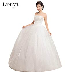Robe de mariée Princesse bustier prix // Robe mariage Lamya