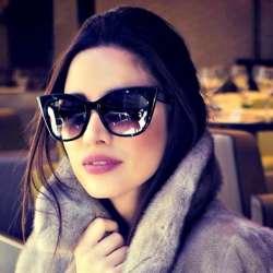 c6fc0be9a00f93 Luxe Vintage Cat Eye lunettes de Soleil Femmes Marque Designer Rétro Femme  de Lunettes De Soleil Points Lunettes de Soleil Pour Femmes Dames de  Lunettes De ...