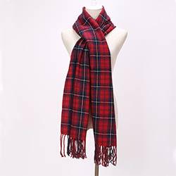Marque Écharpes Longues Glands Rouge Plaid Cachemire Tissé Chaud Pashmina Hiver  Mode Châles Pour Les Femmes 74531d861c2