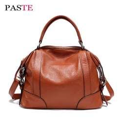 e33c724ff5 Marques PÂTE DE haute qualité en cuir véritable femmes de sacs à main de  luxe designer de mode dame d'épaule de grande capacité sac bandoulière