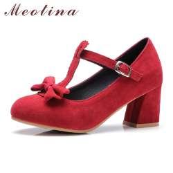 Prix Meotina Jane Lolita Femmes Haute Mary Talons Pompes Chaussures nO0kZNPX8w