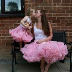 567d26025f4b2e Mère Fille Tutu Jupe Famille Comparer Correspondant Maman et Fille Tulle  Ballet Pettiskirt D'été Princesse Partie De Danse Jupes