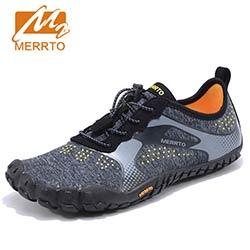 5046061d134 MERRTO Hommes Trekking Chaussures de Randonnée Chaussures de Marche en  Montagne Sneakers Pour Hommes Cinq Orteils Chaussures de Sport Respirant  Escalade ...