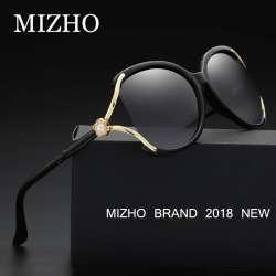4e3e06bf5a0507 MIZHO 2018 De Luxe Solarisées Somen Vidrio lunettes de Soleil Femmes  Polaroid UV Protection D origine Diamant Motif Marque Conception de Couleur