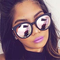Mode Cat Eye lunettes de Soleil Femmes Miroir Femelle Carré Lunettes de  Soleil Pour Femmes Marque Deisnger Rétro Lunettes De Soleil Vintage Oculos  De Sol 5d414c358d36