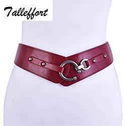 4daa42b53870 Mode large ceinture en cuir femme élastique ceintures pour femmes robe