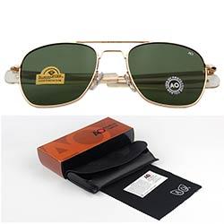 1e7ac6227f Mode lunettes de Soleil Hommes Américain Armée Militaire Marque Designer AO  Lunettes De Soleil Homme Optique Lentille En Verre Oculos de sol RS263