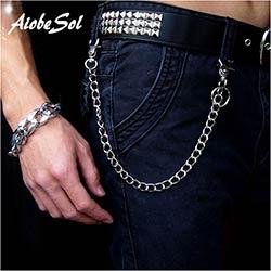 Mode Punk Hip-Hop À La Mode Ceinture Taille Chaîne Mâle Pantalon Chaîne  Chaude Hommes Jeans Argent Métal Vêtements Accessoires Bijoux 8fb51482b16