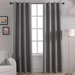 Moderne Solide Blackout Rideaux pour Chambre à Coucher Salon Fenêtre Rideau  Rideaux Nuances Fenêtre Traitements Gris Crème Violet Brun
