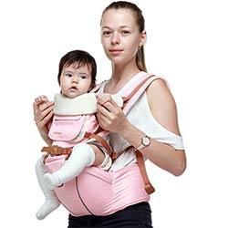 Multifonction Ergonomique Sac À Dos Porte-Bébé Sling pour Les Nouveau-nés  Portable Polyester Kangourou pour Enfants En Bas Âge a0239c1ea9e