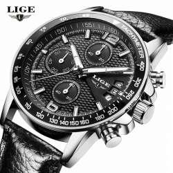 35c5df4c24d0 Nouveau LIGE Reloj Hombre Hommes Montres Marque De Luxe Hommes Militaire  Sport Montre-Bracelet À Quartz Montre Multi-fonction Horloge relogio  masculino
