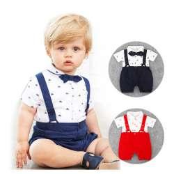 b0cfa9df962c9 Nouveau-Né Bébé Garçon Vêtements Bow Tie Bébé Filles Vêtements Gentleman  Infantile Costume Enfant En Bas Âge Combinaisons Ropa Bebes 2017 Bébé Garçon  ...