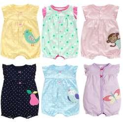e38b37554ecb6 Nouveau-Né Bébé Vêtements Coton Bébé Fille Vêtements 2018 D été infantile  Fille Robe Combinaisons Enfants Costume Pour Nouveau-Né Bébé Fille  barboteuse