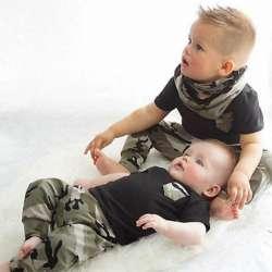 bbf1f51ad95ab Nouveau-né Vêtements Vêtements Pour Bébés Ensemble D été Bébé Garçon T  shirt Tops Camouflage Pantalon Tenues Bébé Garçon Vêtements Ensemble