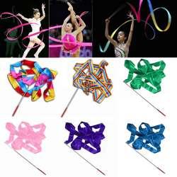Nouvelle Arrivée 4 M De Danse Twirling Ruban Tige Gym Rythmique Art  Gymnastique Ballet Streamer Bâton Bâton Multicolore 10 Couleurs 3951b264471