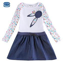 41b14ff099601 Novatx h5922 blanc filles robes automne hiver bébé filles usure de mode  enfants de vêtements pour fille robes nova enfants portent