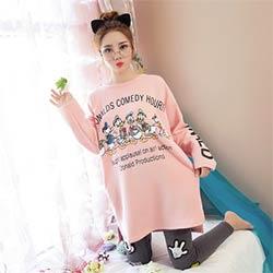 470a4d421c399 Pijama unicornio 2017 nouveaux arrivés de nuit 100% coton printemps été  pijamas mujer femmes de long-douille de vêtements de nuit pyjamas 2 pcs