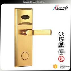 Porte en alliage de Zinc poignée de verrouillage hôtel serrure de porte  avec IC carte conseil pour chambre d\'hôtel accès de sécurité
