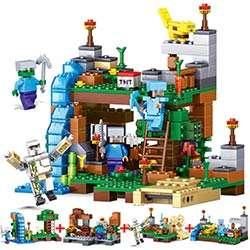 Construction Compatible Minecraft Les Legos Éducatif Blocs Enfants Jouet 1 Qunlong Briques Figurines De Éclairent En Mon Monde 4 Ville Pour oxBQedCrW