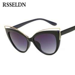 RSSELDN 2018 Date De Mode Cat Eye lunettes de Soleil Femmes Marque Designer  Style lunettes de Soleil des Femmes UV400 Rétro oculos feminino 2a8b10c30150