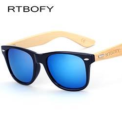 879e07607e RTBOFY Bois lunettes de Soleil Hommes Bambou Soleil verre Marque Conception  Lunettes Or Miroir Lunettes de Soleil Nuances lunette lunettes