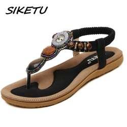 Plates Sandales Femmes De Chaussures Plage Siketu Femme Prix Bohême eWdCBrxQoE