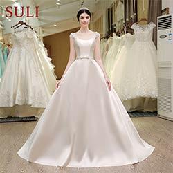 SL-53 Princesse Perles Fleurs Ceinture Arc Robes De Mariée Corset De  Mariage Pas Cher Robe Made in China cfb505b2c7a
