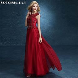 Longue robe de soiree en dentelle