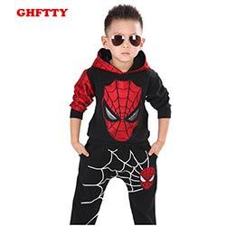 fef3010267264 Spiderman Costume Enfants Garçons Vêtements ensemble Bébé Garçon Spider man  Sport Costumes 3-7 Ans Enfants 2 pcs Ensembles printemps Automne  Survêtements