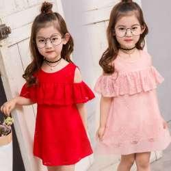 37318b6a4fd77 Été enfant vêtements bébé fille dentelle robe hors de l épaule robes  enfants vêtements enfants princesse robe pour partie fleur fille