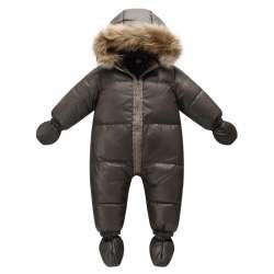 d77e0c2f495d9 Top qualité hiver marque veste mode brun 9 M-36 M infantile manteau 90%  duvet de canard de neige porter bébé garçon habit de neige avec la nature  de ...