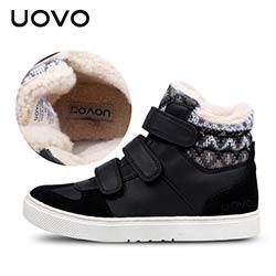 56c5a24d602fe UOVO hiver enfants chaussures marque garçons et filles chaud sport sneakers  de mode chaussures enfants chaussures de sport Eur taille 30  -39