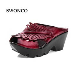 Forme Femmes En Véritable Cuir Prix Plate Sandales Chaussures Femme J1TlKc35uF