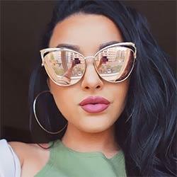 Victorylip 2017 mode cat eye rose or miroir lunettes de soleil femmes  marque designer métal cadre lady lunettes de soleil cateye femme a3bf9c6dc946