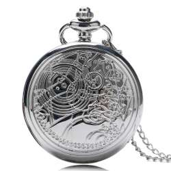 Plata À Conception Vintage Relogio Médecin Collier Pendentif De Poche Argent Fob Montre Reloj Quartz Montres Qui l13uTFJcK