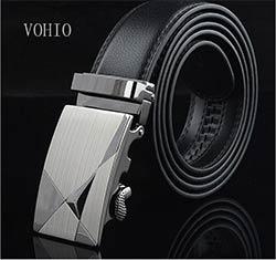 VOHIO Livraison gratuite Hommes de ceinture de haute qualité automatique boucle  ceintures loisirs d affaires ceinture en cuir fabricant fournit droit eec594d2728