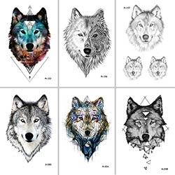 Prix Wyuen Conception Chaude Loup Tatouage Temporaire Pour Les