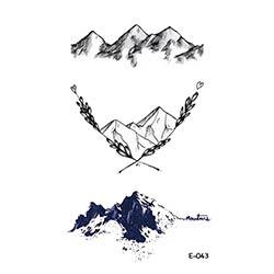 Prix Wyuen Nouveau Design Montagne Faux Tatouage Temporaire